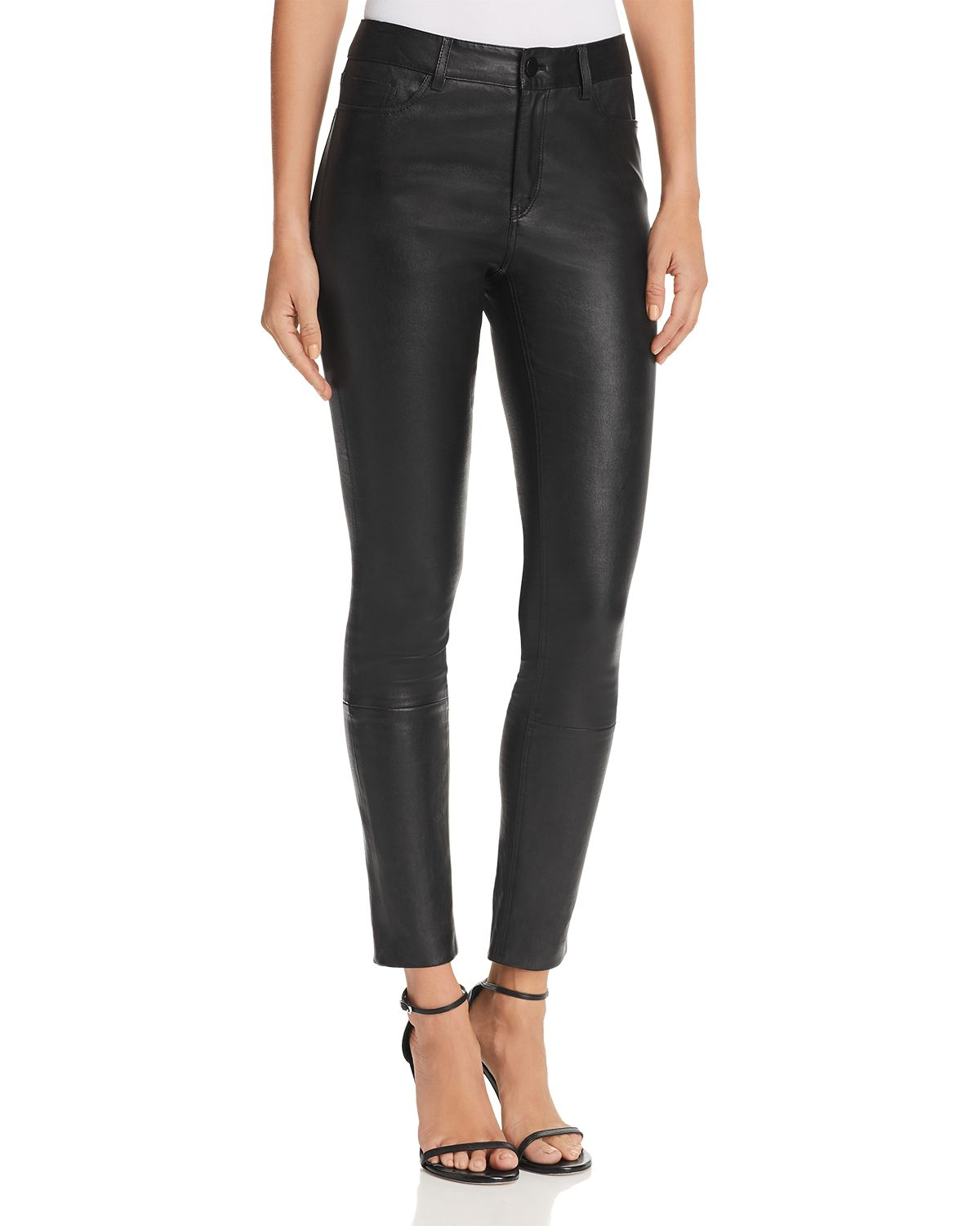 Bristol Skinny Leather Pants by Theory
