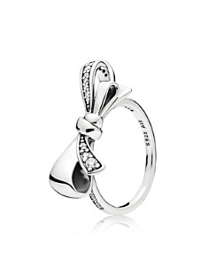 PANDORA Sterling Silver & Cubic Zirconia Brilliant Bow Ring - Bloomingdale's_0