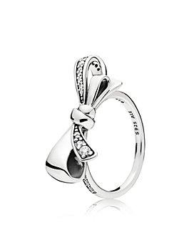Pandora - Sterling Silver & Cubic Zirconia Brilliant Bow Ring