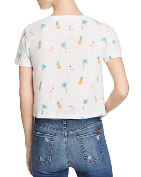 Honey Punch - Tropical Print Cropped Tee