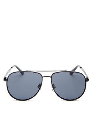 Le Specs Women's Hard Knock Brow Bar Aviator Sunglasses, 57mm