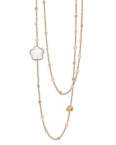 "Pasquale Bruni 18K Rose Gold Bon Ton Floral Gemstone & Diamond Necklace, 26"" - Bloomingdale's_0"