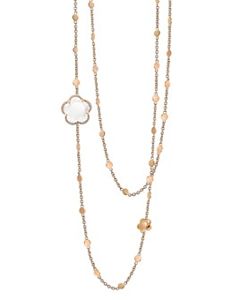 Pasquale Bruni - 18K Rose Gold Bon Ton Floral Gemstone & Diamond Necklace, 26""
