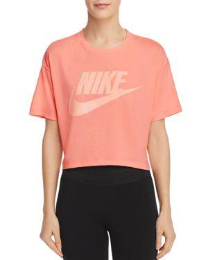 Women'S Sportswear Essential Crop T-Shirt, Red, Orange