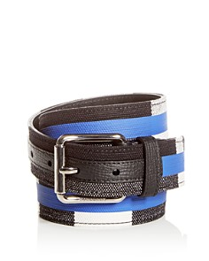 Burberry Fife Striped Check Belt - Bloomingdale's_0