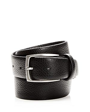 Canali Tumbled Leather Belt
