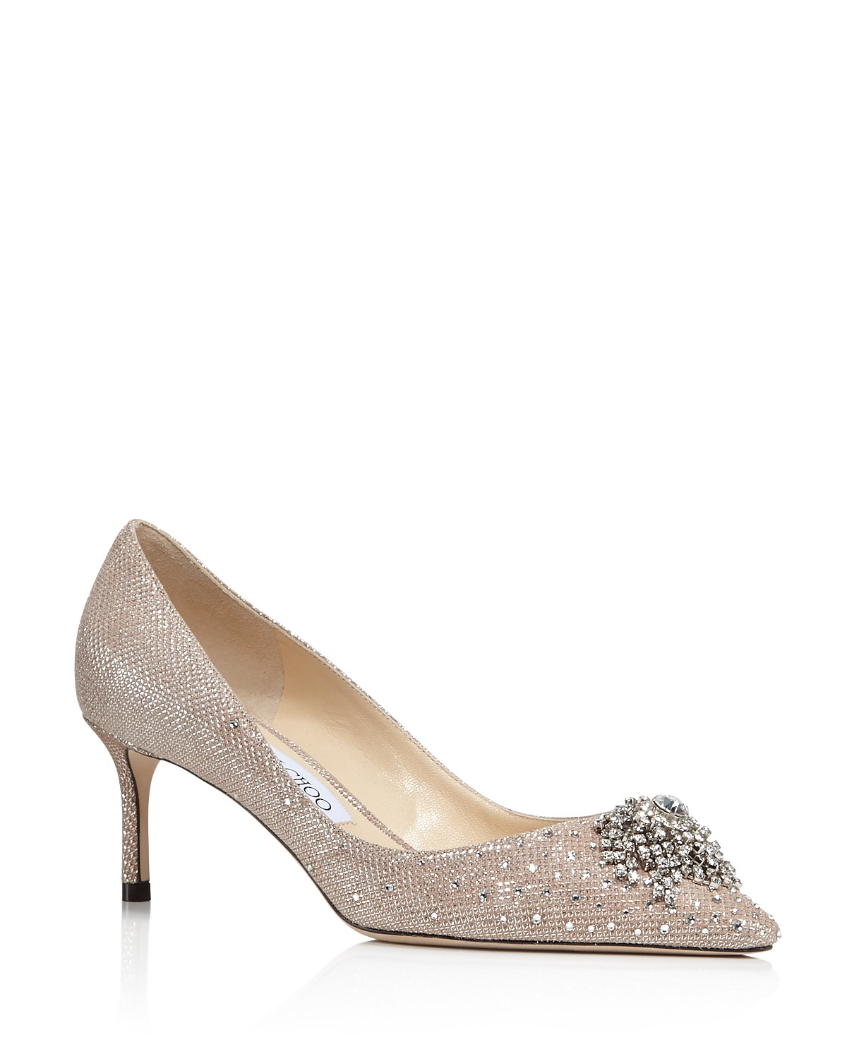 Jimmy choo Women's Joan 60 Glitter Mesh & Leather Pointed Toe Mid Heel Pumps lxywISO