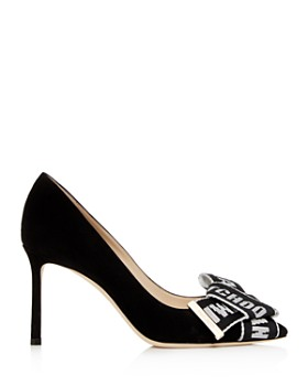 Jimmy Choo - Women's Tegan 85 Suede High-Heel Pointed Toe Pumps