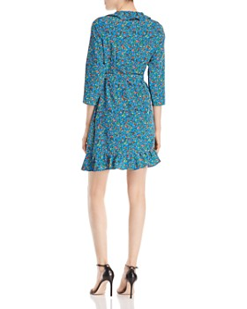 Alison Andrews - Ruffle-Trimmed Floral-Print Wrap Dress