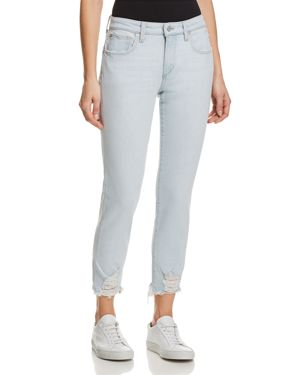 The Smith Distressed Cropped Skinny Jeans, Liya
