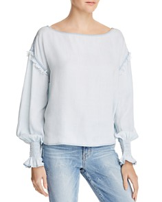DL1961 - York St Chambray Boatneck Top
