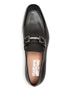 Salvatore Ferragamo - Men's Benford Leather Apron Toe Loafers