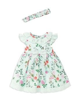 Little Me - Girls' Garden Party Dress, Headband & Bloomers Set - Baby