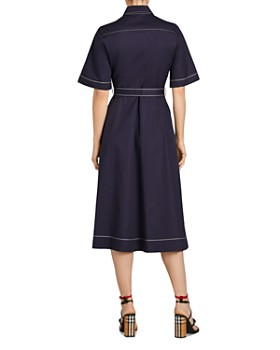 Burberry - Carmen Topstitched Midi Shirt Dress