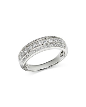 Bloomingdale's - Diamond Milgrain Edge Band in 14K White Gold, 0.70 ct. t.w. - 100% Exclusive
