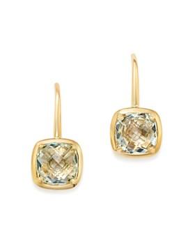 Bloomingdale's - Prasiolite Square Drop Earrings in 14K Yellow Gold - 100% Exclusive