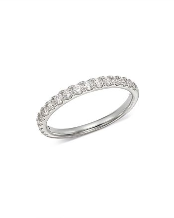 Bloomingdale's - Diamond Shared Prong Stacking Band in 14K White Gold, 0.50 ct. t.w. - 100% Exclusive