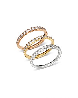 Bloomingdale's - Diamond Shared Prong Stacking Band, 0.50 ct. t.w. - 100% Exclusive
