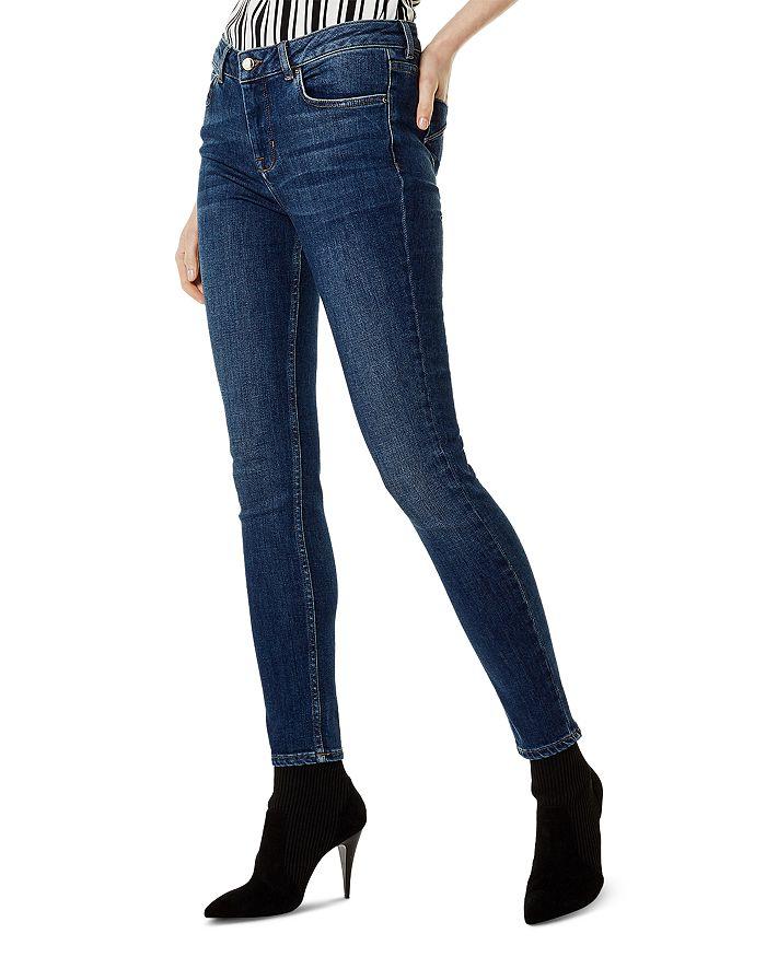 KAREN MILLEN - High-Rise Skinny Jeans in Denim