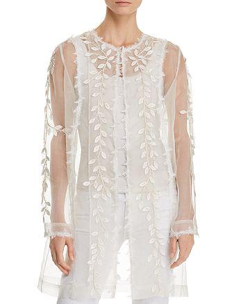 Elie Tahari - Jaya Sheer Embellished-Silk Duster