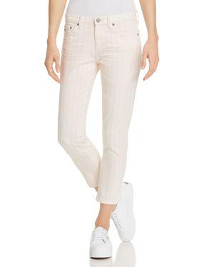Ag Prima Crop Straight Jeans in 1 Year Coastal Stripe Prism Pink 2963354