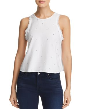 BEADED FRAYED TOP
