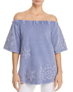 Billy T Embroidered Off-the-Shoulder Top - Bloomingdale's_0