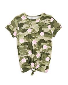 Flowers by Zoe Girls' Distressed Camo & Rose Print Tee - Little Kid - Bloomingdale's_0
