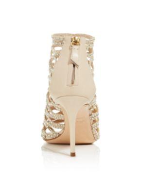 Casadei Women's Cleopatra Swarovski Crystal Embellished High-Heel Cage Sandals O3bhIZjt