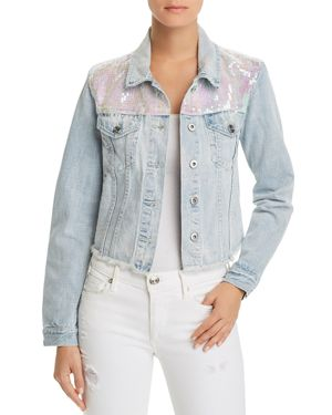 PISTOLA SUNSET + SPRING SEQUINED DENIM JACKET - 100% EXCLUSIVE