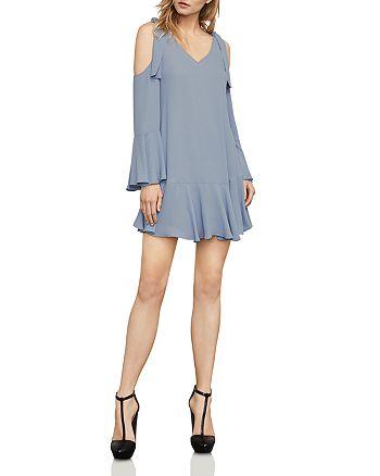 BCBGMAXAZRIA - Ellyson Knot Detail Cold-Shoulder Dress