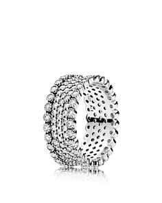 PANDORA Sterling Silver & Cubic Zirconia Lavish Sparkle Ring - Bloomingdale's_0