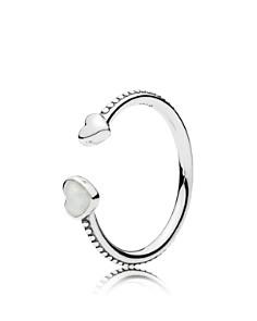 PANDORA Sterling Silver & Enamel Hearts of Love Open Ring - Bloomingdale's_0