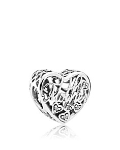 PANDORA Sterling Silver & Cubic Zirconia Mother & Son Bond Heart Charm - Bloomingdale's_0