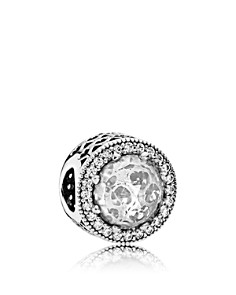 PANDORA Sterling Silver & Cubic Zirconia Radiant Hearts Charm - Bloomingdale's_0