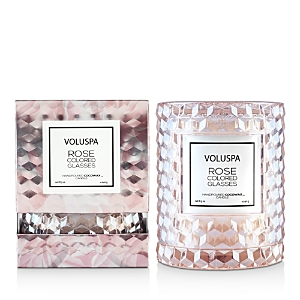 Voluspa Rose Colored Glasses Cloche Candle