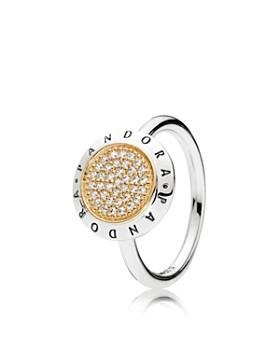 PANDORA - Sterling Silver & Cubic Zirconia Signature Statement Ring