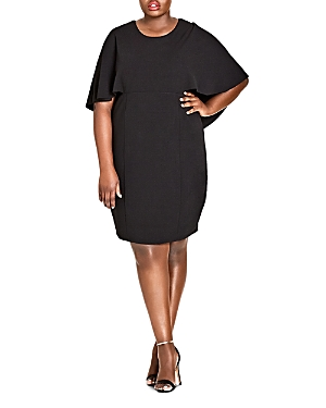 City Chic Plus Cape Sheath Dress