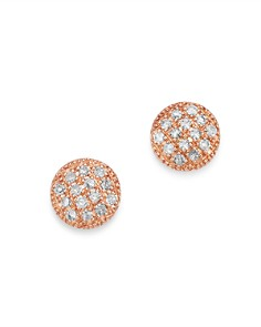 Moon & Meadow - Diamond Circle Stud Earrings in 14K Rose Gold, 0.08 ct. t.w. - 100% Exclusive