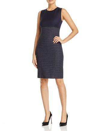 BOSS - Dibena Color Block Sheath Dress