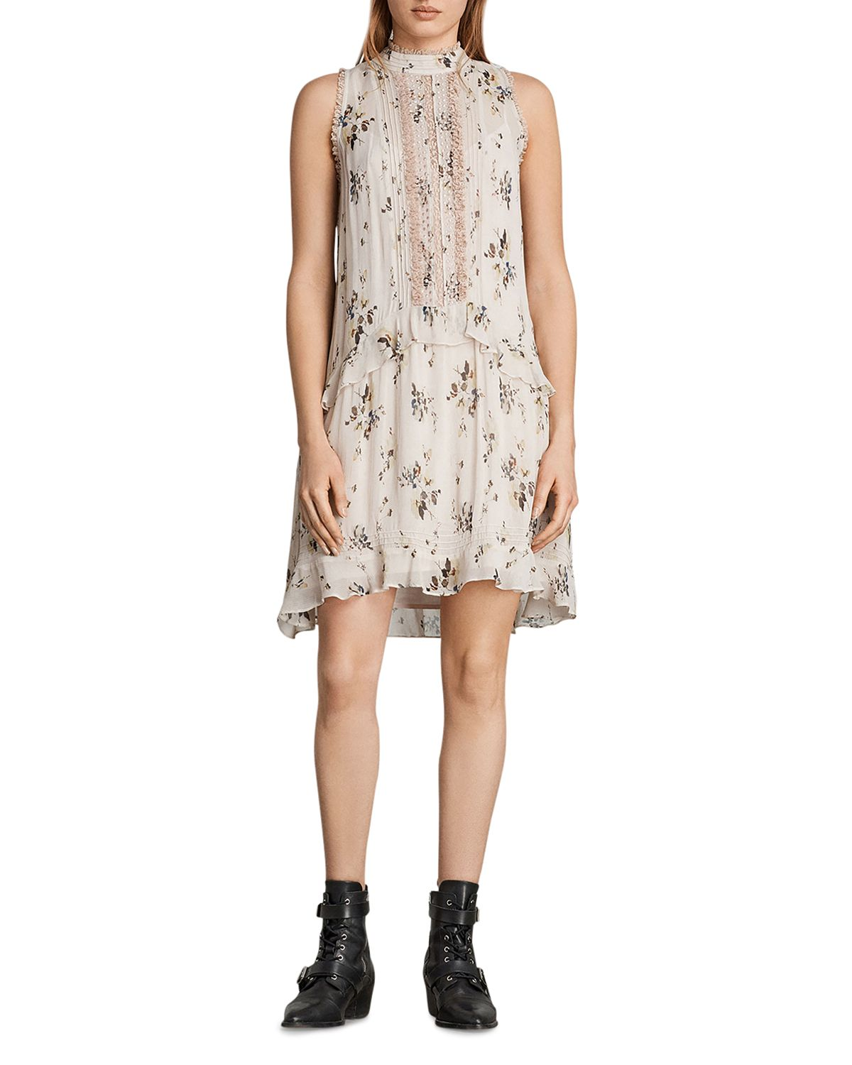 Mina Buttercup Drop Waist Dress by Allsaints