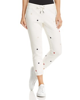 PAM & GELA - Embroidered Cropped Sweatpants