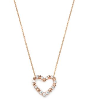 Bloomingdale's Diamond Heart Pendant Necklace in 14K Rose Gold, 0.20 ct. t.w. - 100% Exclusive