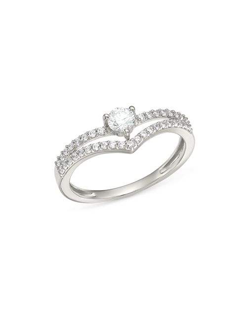 Bloomingdale's - Diamond Crest Ring in 14K White Gold, 0.35 ct. t.w. - 100% Exclusive