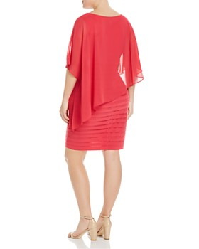 Adrianna Papell Plus - Sheer Cape Overlay Dress