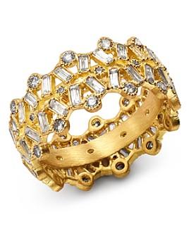 Armenta - 18K Yellow Gold Sueno Champagne Diamond & White Sapphire Ring