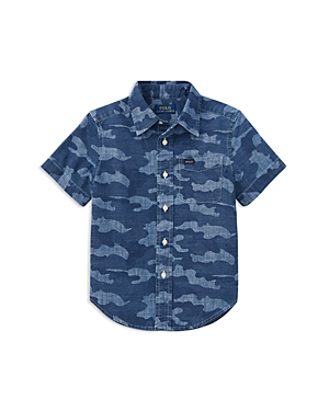 Polo Ralph Lauren Boys ShortSleeve Camouflage Shirt  Little Kid