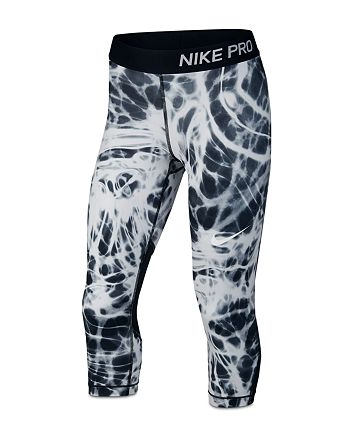 a08a912de Nike Girls' Smoke-Print Pro Capri Leggings - Big Kid | Bloomingdale's