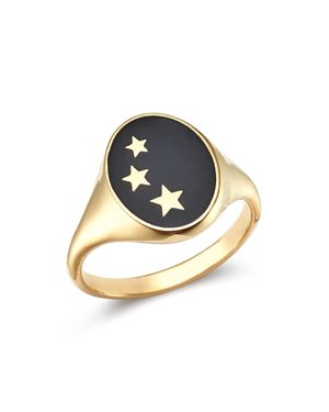 SUEL 14K YELLOW GOLD CONSTELLATION SIGNET RING