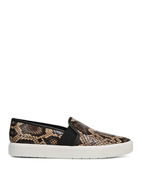 Vince - Women's Blair-5 Snake-Print Leather Slip-On Sneakers